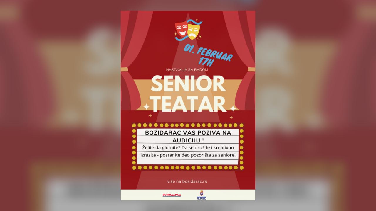 Nova audicija Senior Teatra