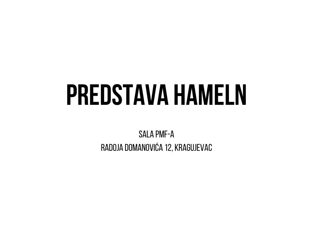 Predstava Hameln
