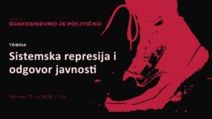 "Read more about the article Tribina ""Sistemska represija i odgovor javnosti"" u CK13"
