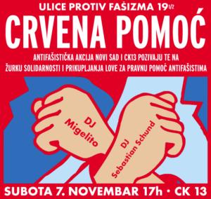 Read more about the article Prikupljanje crvene pomoći – Ulice protiv fašizma 19 1/2