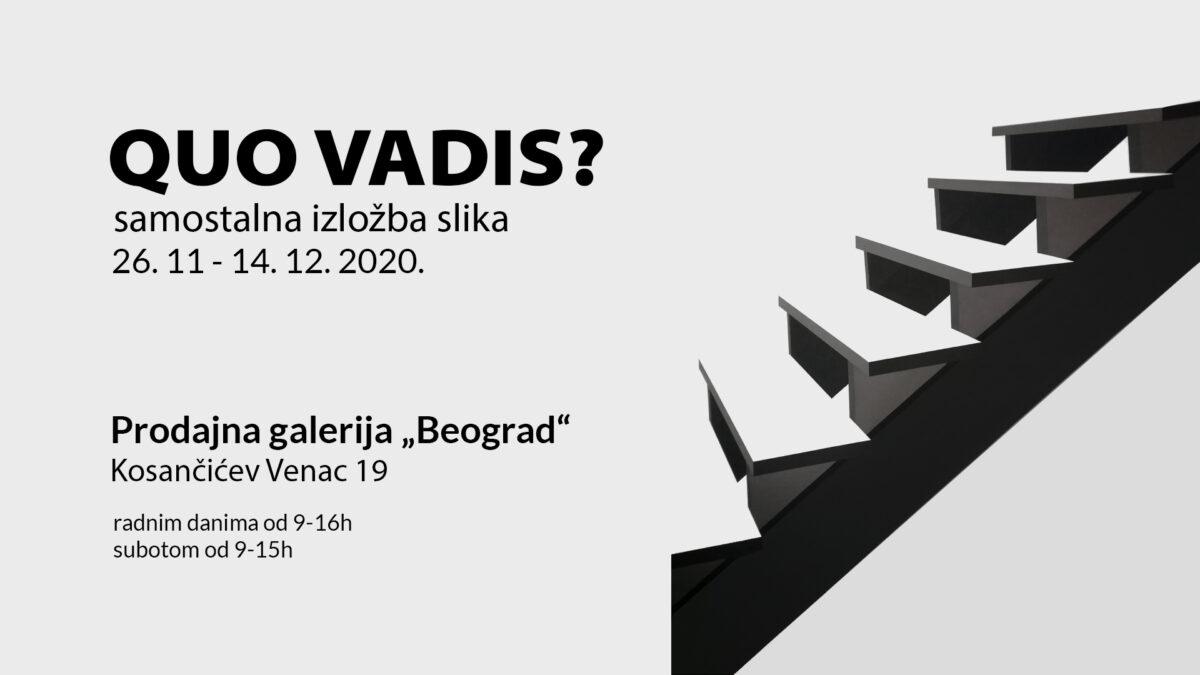 """Izložba slika """"Quo vadis?"""" Mile Gvardiol"""