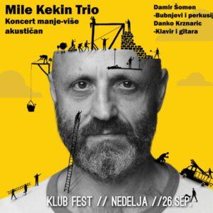 Read more about the article Mile Kekin Trio u nedelju u klubu Fest